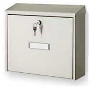 poštovní schránka na dopisy, noviny, nerezová - Biedrax SD6304