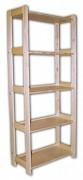 regál dřevěný masivní 33,5 x 45 x 166 cm, 5 polic