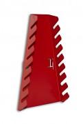 svislý držák 8 ks klíčů na nástěnný panel - Biedrax NP5851