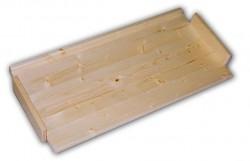náhradní police - regál dřevěný masivní 33,5 x 68 cm