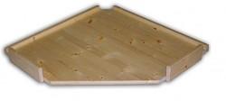 náhradní police - regál dřevěný masivní rohový 70 x 70 cm