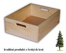 dřevěná bedna střední 40 x 30 x 13 cm - Biedrax
