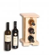 dřevěný stojan na víno pro 3 láhve - SV3
