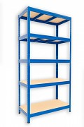 kovový regál Biedrax 45 x 120 x 180 cm - 5 polic x 175kg, modrý