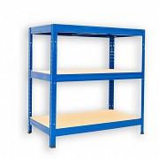 kovový regál Biedrax 60 x 90 x 90 cm - 3 police x 175kg, modrý