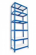 kovový regál Biedrax 45 x 90 x 240 cm - 6 polic lamino x 175 kg, modrý