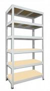 kovový regál Biedrax 35 x 90 x 180 cm - 6 polic x 275kg, bílý
