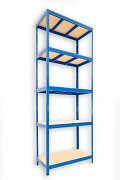 kovový regál Biedrax 35 x 90 x 240 cm - modrý
