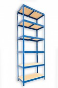 kovový regál Biedrax 35 x 90 x 240 cm - 6 polic x 175kg, modrý