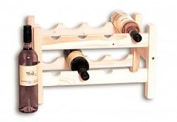 dřevěný stojan na víno pro 8 láhví - SV8