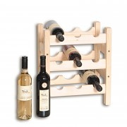 dřevěný stojan na víno pro 9 láhví - SV9