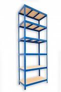 kovový regál Biedrax 35 x 90 x 210 cm - 6 polic x 275kg, modrý