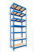 kovový regál Biedrax 60 x 90 x 270 cm - 7 polic x 275kg, modrý