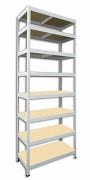 kovový regál Biedrax 45 x 90 x 240 cm - 8 polic x 175kg, bílý