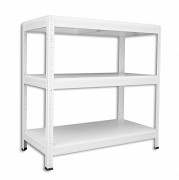 kovový regál Biedrax, bílé police 45 x 90 x 90 cm - bílý, 175 kg na polici