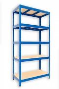 kovový regál Biedrax 35 x 75 x 180 cm - 5 polic x 275kg, modrý