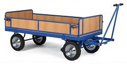 velký plošinový vozík Biedrax PV817 - ohrádka z dřevotřísky