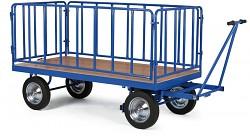 velký plošinový vozík Biedrax PV822 - celokovová ohrádka