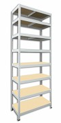 kovový regál Biedrax 50 x 90 x 270 cm - 8 polic x 175kg, bílý
