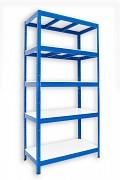 kovový regál Biedrax 50 x 90 x 180 cm - 5 polic lamino x 275 kg, modrý