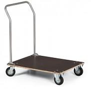plošinový vozík s dřevěnou deskou Biedrax PV2024 - 80x60cm