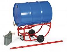 vozík na sudy, bečky vhodný pro sklady olejů Biedrax VS1529