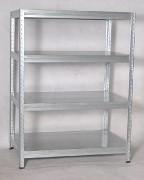 kovový regál Biedrax 35 x 90 x 180 cm - pozinkovaný, kovové police