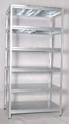 kovový regál Biedrax 35 x 90 x 180 cm - 6 polic kovových x 275kg, pozinkovaný