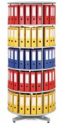 regál otočný archivační - 5 pater, šedá Biedrax AS4002