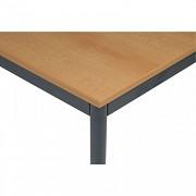 stoly do kanceláře 80 x 80 cm Biedrax JS4639TSB - tm.šedá, buk