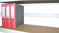 zadní zábrana 75 cm bílá, pro kovový regál proti vypadnutí