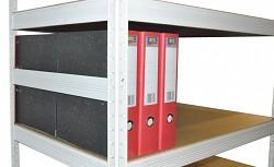 boční zábrana 35 cm bílá, pro kovový regál proti vypadnutí