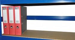 zadní zábrana 120 cm modrá, pro kovový regál proti vypadnutí
