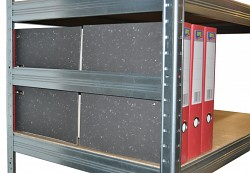 boční zábrana 50 cm zinek, pro kovový regál proti vypadnutí