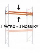 PALETOVÝ REGÁL - PŘÍDAVNÉ PATRO (2 KS NOSNÍK) 100  CM - NOSNOST 1500 KG, POZINKOVANÝ