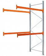paletový regál přídavný 100 x 100 x 500 cm - 1500 kg/patro, pozinkovaný