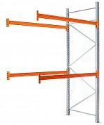 paletový regál přídavný 100 x 100 x 450 cm - 3000 kg/patro, pozinkovaný
