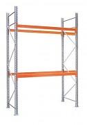 paletový regál základní 100 x 270 x 450 cm - 3000 kg/patro, pozinkovaný