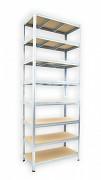 kovový regál Biedrax 35 x 120 x 240 cm - 8 polic x 175kg, pozinkovaný