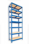 kovový regál Biedrax 45 x 75 x 210 cm - 7 polic x 175kg, modrý