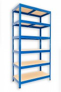 kovový regál Biedrax 60 x 60 x 180 cm - 6 polic x 175kg, modrý