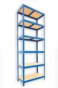 kovový regál Biedrax 35 x 60 x 240 cm - 6 polic x 175kg, modrý