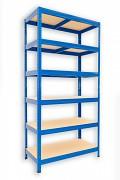 kovový regál Biedrax 35 x 60 x 180 cm - 6 polic x 175kg, modrý