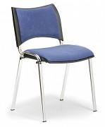 Konferenční čalouněná židle, modrá Biedrax Z9106M