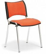 Konferenční čalouněná židle, oranžová Biedrax Z9106O