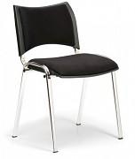 Konferenční čalouněná židle, černá Biedrax Z9106C