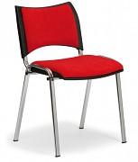 Konferenční čalouněná židle, červená Biedrax Z9106CV