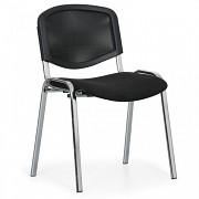 Konferenční čalouněná židle, černá Biedrax Z9854C