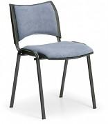 Konferenční čalouněná židle, šedá Biedrax Z9094S