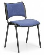 Konferenční čalouněná židle, modrá Biedrax Z9094M